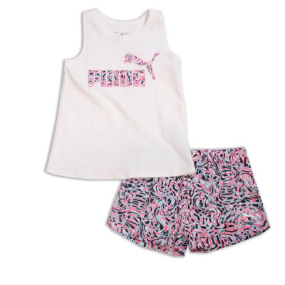Puma Kids Apparel 2-pc. Short Set Toddler Girls