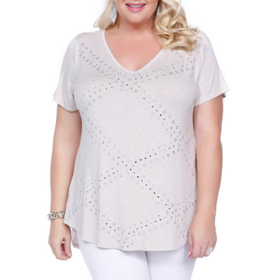 Kaily K. Short Sleeve Pullover - Plus