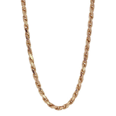 Made in Italy 10K Gold 22 Inch Rope Chain Necklace