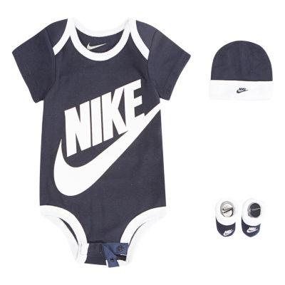 Nike 3pc Bodysuit Hat Bootie Set- Baby