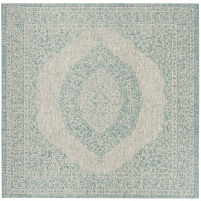 Safavieh Courtyard Collection Adria Oriental Indoor/Outdoor Round Area Rug