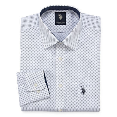 U.S. Polo Assn. Uspa Dress Shirt Long Sleeve Dots Dress Shirt - Slim