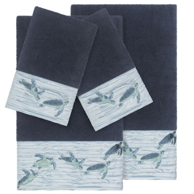 Linum Home Textiles 100% Turkish Cotton Mia 4PC Embellished Towel Set