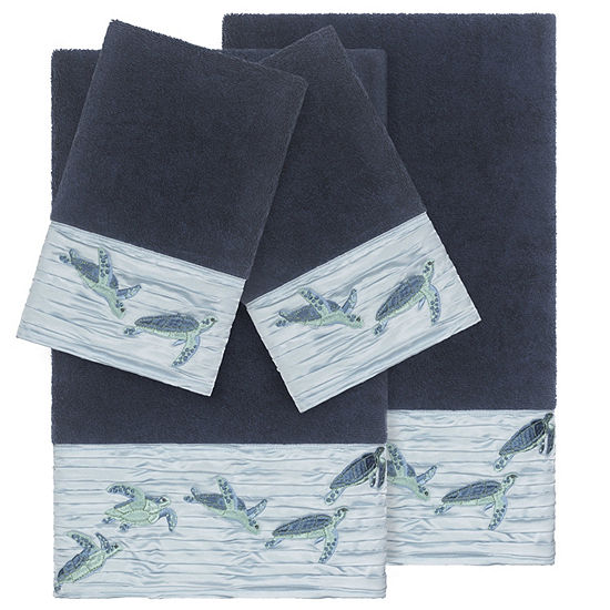 Linum Home Textiles 100% Turkish Cotton Mia 4PC Embellished Towel Set