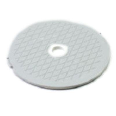 "7.75"" White Decorative Diamond Pattern Swimming Pool Skimmer Cover"
