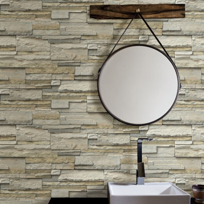 Brewster Wall Slate Peel & Stick Wallpaper Wall Decal