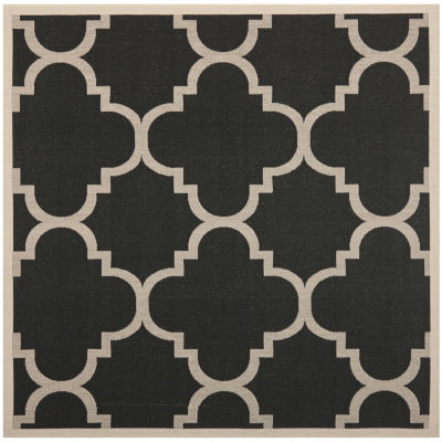 Safavieh Courtyard Collection Gina Geometric Indoor/Outdoor Square Area Rug