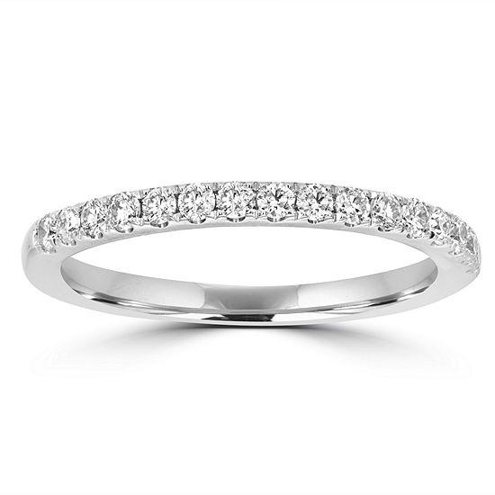 2MM 1/3 CT. T.W. Genuine White Diamond 14K White Gold Band