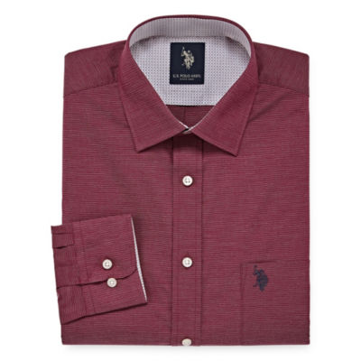 U.S. Polo Assn. Long Sleeve Yarn Dyed Woven Dress Shirt - Slim