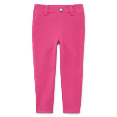 Okie Dokie Ponte Pull-On Jegging Pants - Baby Girl NB-24M