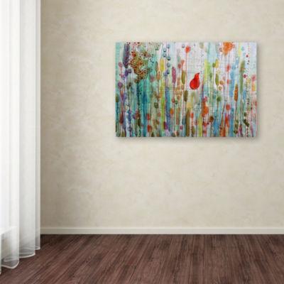 Trademark Fine Art Sylvie Demers Une Ame Dans Le Jardin Giclee Canvas Art