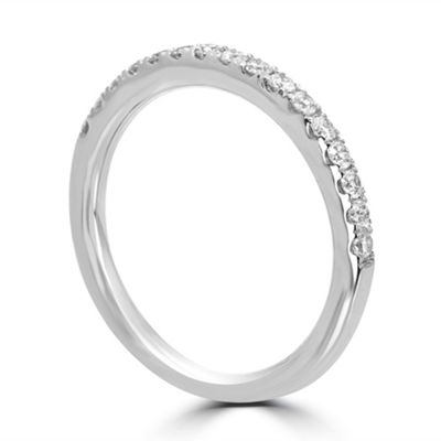 Womens 2mm 1/3 CT. T.W. Genuine White Diamond 14K White Gold Band