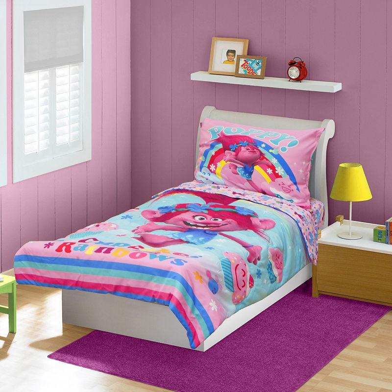 Trolls Toddler 4 Pc Bedding set, Girls, Multi