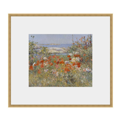 Celia Thaxters Garden  Isles Of Shoals Maine Framed Print