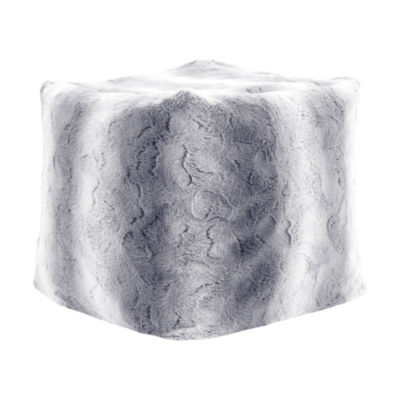 Madison Park Zuri Tip Dyed Long Faux Fur Pouf