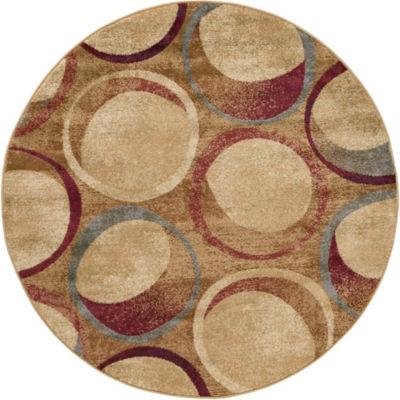 Tayse Abigail Contemporary Circles Round Area Rug