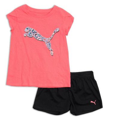 Puma Puma Kids Apparel 2-pc. Short Set Toddler Girls