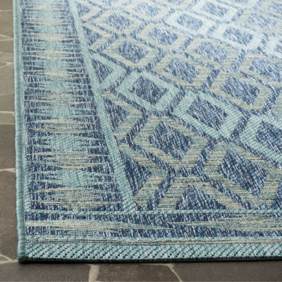 Safavieh Courtyard Collection Trent Geometric Indoor/Outdoor Square Area Rug