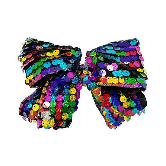 JoJo Siwa Signature Big Rainbow Circle Sequin Bow