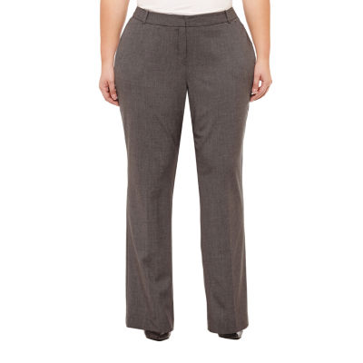 Worthington Womens Perfect Curvy Fit Trouser – Plus