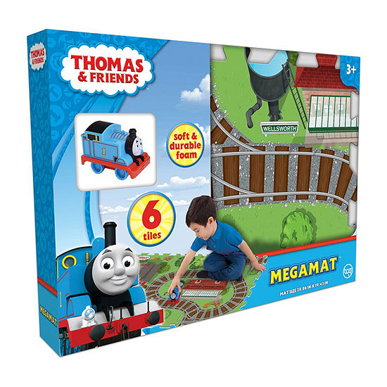 Thomas The Train 6 Piece Mega Floor Mat With Vehicle