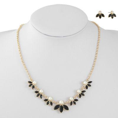Monet Jewelry Black Gold Tone 2-pc. Jewelry Set