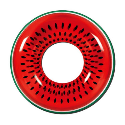 "42"" Red Watermelon Fruit Inflatable Swimming Pool Inner Tube Ring Float"