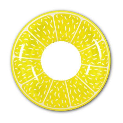 """42"""" Yellow Lemon Fruit Inflatable Swimming Pool Inner Tube Ring Float"""