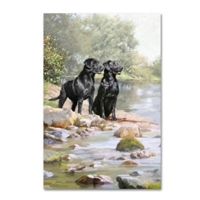Trademark Fine Art The Macneil Studio Black Labradors Giclee Canvas Art