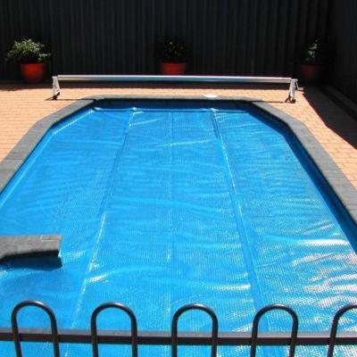 24' x 44' Rectangular Solstice Solar Blanket Swimming Pool Cover - Blue