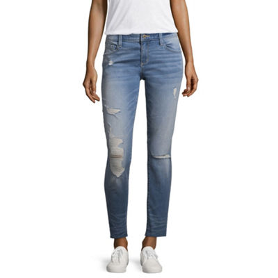 Arizona Ripped Ankle Jeans-Juniors