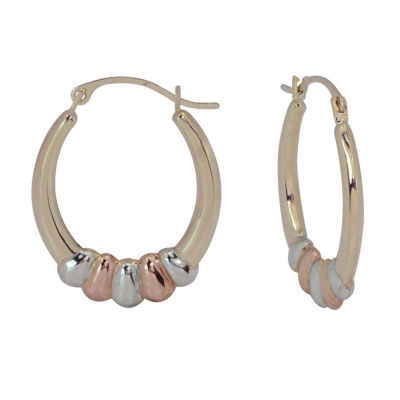 10K GOLD 23mm Hoop Earrings
