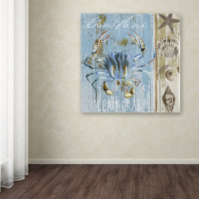 Trademark Fine Art Color Bakery Blue Crab II Giclee Canvas Art