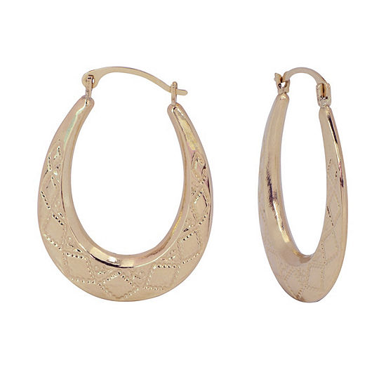 10K Gold 24mm Hoop Earrings