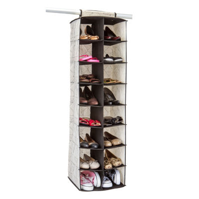 Non-Woven 16 Pocket Shoe Organizer - Geo Natural