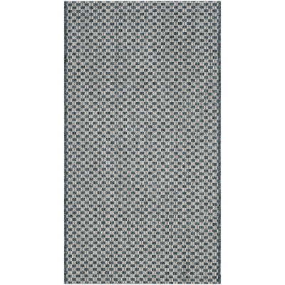 Safavieh Courtyard Collection Blanca Geometric Indoor/Outdoor Area Rug