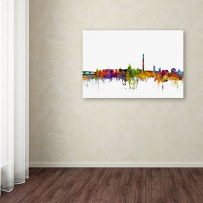 Trademark Fine Art Michael Tompsett Washington DCSkyline II Giclee Canvas Art