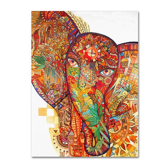Trademark Fine Art Oxana Ziaka Red India Giclee Canvas Art