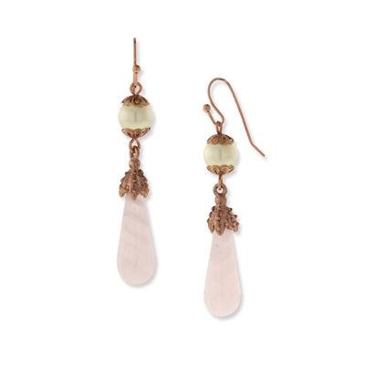 1928 Vintage Inspirations Pink Drop Earrings