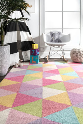 nuLoom Bianca Triangles Wool Area Rug