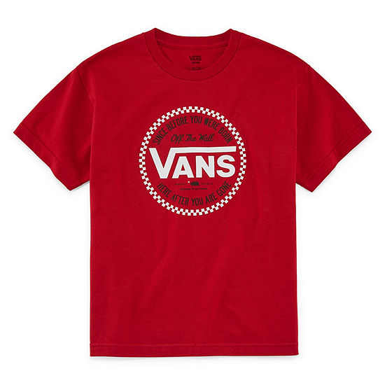 Vans Boys Crew Neck Short Sleeve Graphic T-Shirt - Big Kid