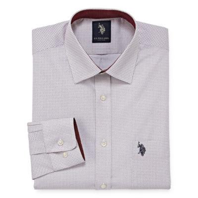 U.S. Polo Assn. Uspa Dress Shirt Long Sleeve Geometric Dress Shirt - Slim