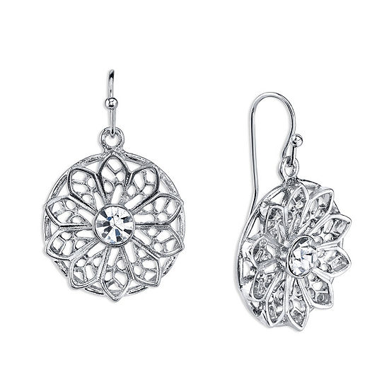 1928 Vintage Inspirations Round Drop Earrings