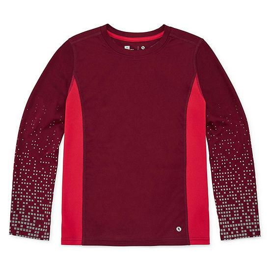 Xersion Little & Big Boys Long Sleeve Dri-Fit T-Shirt
