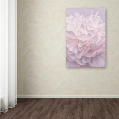Trademark Fine Art Cora Niele Pink Peony Petals IGiclee Canvas Art