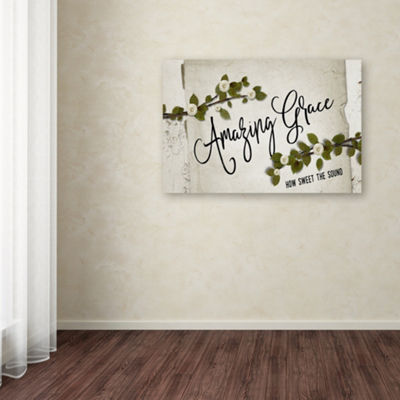 Trademark Fine Art Marcee Duggar Amazing Grace Floral Giclee Canvas Art