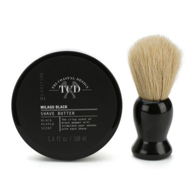 Tri-Coastal Design 2 Piece Shave Set with Brush