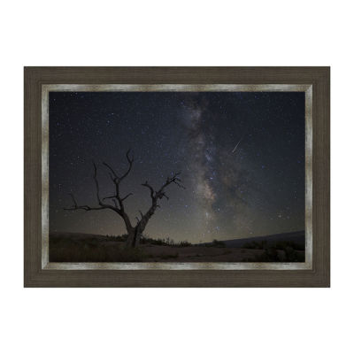 Enchanted Rock State Park - The Milky Way On A Summer Night Framed Canvas Art