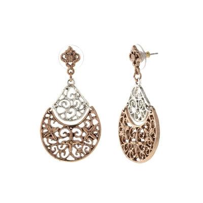 1928 Vintage Inspirations Brass Drop Earrings