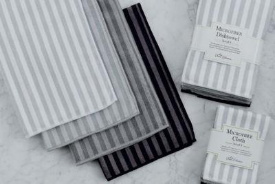 Stripe Microfiber Dishtowel Set - Set of 4